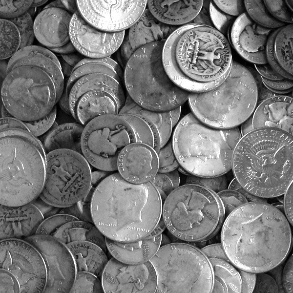 Many Silver Coins